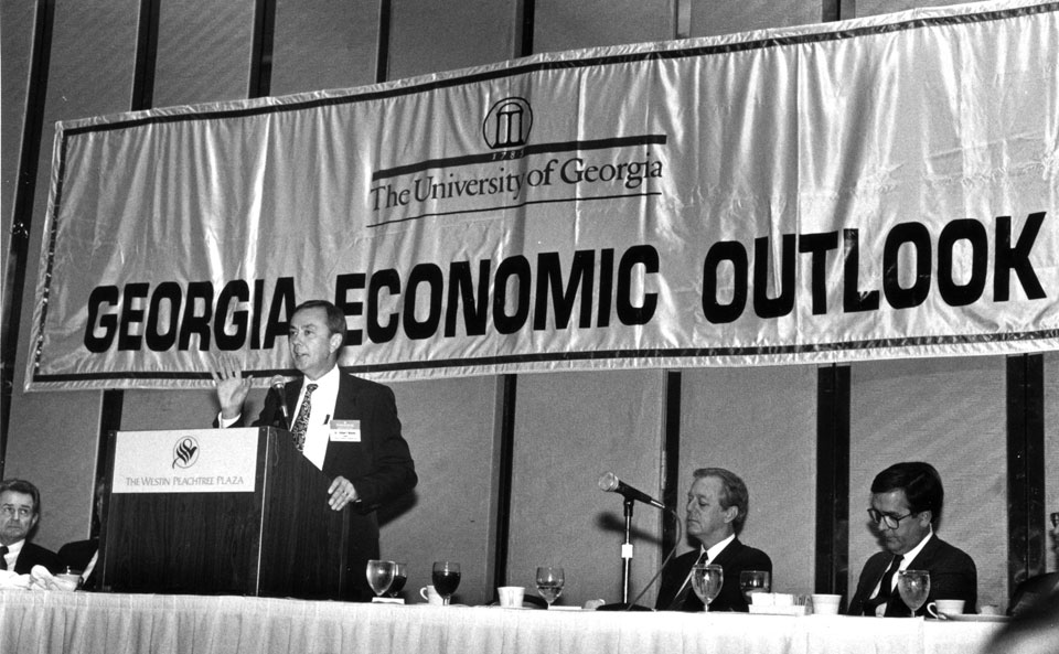 speaker panel at a Georgia Economic Outlook luncheon